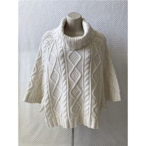 Gap Cable knit Chunky Cropped Sweater size small